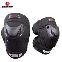 Motocicleta protector de la rodillera SCOYCO k15-2 motocross protección de la rodilla, la armadura a prueba de viento motorcycleinter capucha para mujeres y hombres