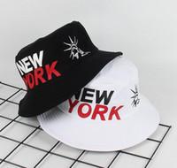 New york Özgürlük Heykeli Kova Şapka kap Bob Cap baskılı açık seyahat erkek panama Caps Plaj Balıkçı boonie Şapka