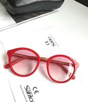6de1a8a7d333e Designer ch3385 cadeia óculos de sol vermelho   rosa marca de luxo designer  óculos de sol