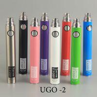 뜨거운 판매 UGO 배터리 UGO-V-2에 맞게 14mm 자아 시리즈에 맞게 510 스레드 분무기 EVOD USB 직접 충전 대 th205 카트리지