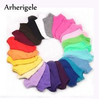 Arherigele 5pairs Women's Socks Short Candy Color Dot Cute Art Socks for Girls Thin Coon Blends Low Cut Ankle Socks Summer