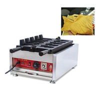 Ticari Elektrikli Taiyaki Makinesi Balık Waffle Maker Kore Dondurma Taiyaki Pan Elektrikli Sıcak Balık Waffle Makinesi NP716