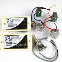 1 Установите Chrome Стандартный ProBucker Alnico N и B Электрическая гитара хамбакеров с Pro жгутов для серебряной крышкой