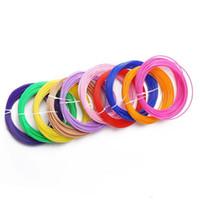 20 colores de la impresora 3D Pen filamento ABS / PLA 1,75 mm de goma de plástico Consumibles Material de 10M / 3D Pack filamento pluma precios al por mayor de DHL