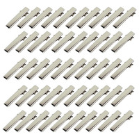 32mm / 35mm / 40mm / 45mm / 55mm / 65mm / Single Prong Metall Alligator Haarklammern Haarnadeln Korkmaschine Bogen.200PCS \