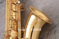 جديد وصول الموسيقية ياناجيساوا T-WO2 bb تينور ماركة الذهب ورنيش ساكسفون ب شقة النحاس ساكس مع حالة الملحقات