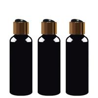 30 adet 100 ml 150 ml 200 ml 250 ml 300 ml Altın siyah Disk Vidalı Kapak Kozmetik Şişe, plastik Konteyner, siyah Boş Sıvı Sabun Şampuan Şişeleri