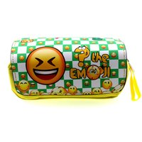 EMOJI Smiley Pencil Case Stationery Office School Supplies Bolsas de maquillaje como regalo de Girls Boys