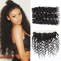 Brazilian Water Wave 3 Bundles With Lace Frontal Closure 8A ...