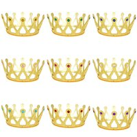 Children Princess Hair Accessories colorful gems Crown baby ...