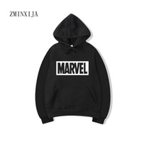 2017 New Marvel Lettre Imprimer Noir Sweat Hommes Hoodies Mode Solide Sweat À Capuche Hommes Pull Survêtements Survêtements Hommes manteaux