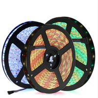 LED 스트립 5050 DC12V 유연한 LED 빛 방수 / 방수 없음 5050 RGB / RGBW LED 스트립 60LEDs / m 5m / lot