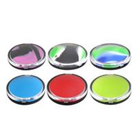 Hohe qualität 8ml FDA Silikonwachs Ölgefäß großes Volumen nicht stick Silikonwachs Ölcreme Glas DAB Container Schlüsselanhänger Tragbare Größe