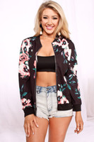 2017 New Womens Ladies Casual Floral Jacket Autumn spring wo...