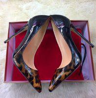 2018 الأوروبية والأمريكية نمط طباعة ليوبارد أحذية عالية الكعب 12CM رقيقة جدا مع الأحذية النسائية مثير ملهى ليلي مدببة حاد المرأة