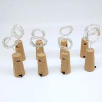 Fio de luz garrafa de 20-leds 2 metros sliver fio com rolha de garrafa para decoração de casamento de artesanato de vidro e festa luz
