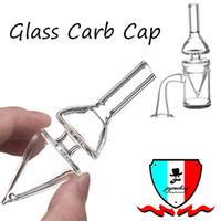 Carb Glaskappe mit Loch Ahle carb Kappe dia 25mm auf der Unterseite oder oustide für Quarz bangen Hüttenglasbong dab Rigs