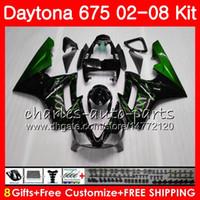 Kit Pour Triumph Flammes vertes Daytona 675 2002 2003 2004 2005 2006 2007 2008 Carrosserie 04HM.65 Daytona675 Daytona 675 02 03 04 05 06 07 08 Carénage