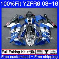 Инъекции для Yamaha глянцевый синий новый YZF600 YZFR6 08 09 10 11 12 YZF-600 234HM.7 YZF 600 R 6 YZF-R6 YZF R6 2008 2009 2010 2011 2012 обтекатели