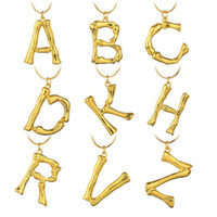 Brand New Exaggerated 26 Gold Letters Necklace Fashion 18K G...