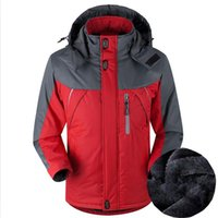 Plus La Taille Pizex M-5XL 2018 Hommes D'hiver épaississent Des Vestes De Coton Chaud Alpinisme Costume À Capuche Patchwork Vestes D'extérieur