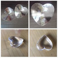 10PCS 40mm Celar K9 Crystal Heart Shape Chandelier Prisms Pe...