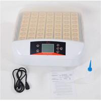 Großhandelsinkubatoren 56-Ei Praktischer vollautomatischer Geflügel-Brutkasten mit Ei-Kerze (US-Standard) weiß