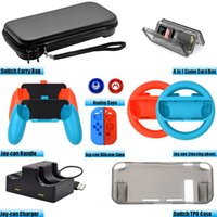 Accessories Kit for Nintend Switch Games Steering Wheel Grip...