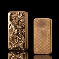 Metal Dragon Encendedor de gas Moda creativa Tire hacia abajo Encendedores a prueba de viento Golden Dragon Design Luxury Gift for Men