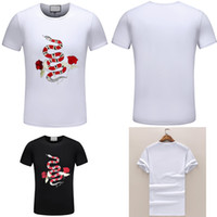 2018 New Summer Cotton Men T- Shirts fashion Plate snake pain...