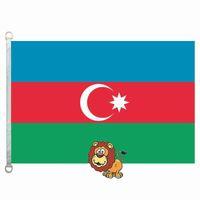 Aserbaidschan-Land kennzeichnet Flagge, 90 * 150CM, Polyester 100%, Fahne, Digital-Drucken