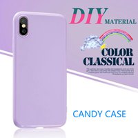 Fashion Simple Solid Color Phone Case For iphone X Cute Cand...
