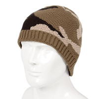 Cappelli uomo Tide Winter New Camouflage Sport Knitting Cap Outdoor Cashmere Sleeve Head Cappello di lana Warm Beanie