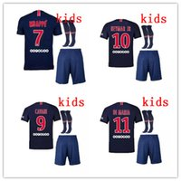 2018 2019 Paris 7 MBAPPE kit de niños camisetas de fútbol 18 19 psg VERRATTI CAVANI DI MARIA MAILLOT DE FOOT survetement football CAMISA