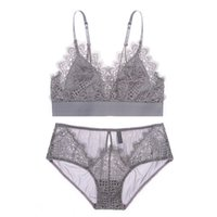 Women Sexy Bra Set Ladies Lace Seamless Bralette Bustier Women Underwear  Lingerie Set Triangle Cup Bra and Panty Set 3 Colors 8b3c10533