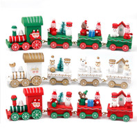 Wooden Christmas Decor Ornaments Christmas Wooden Train Gift...