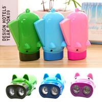 Pressão de mão recarregável mini lanterna crianças brinquedo iluminação bolso lanterna lanterna sequinho auto-recarga com 3 LED