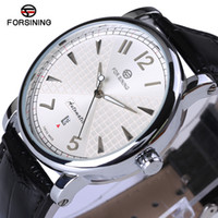 Forsining 2017 Fashion Business White Dial Designer Leather Mens Watches Top  Automatic Mechanical Watch Clock Men