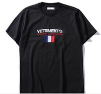 Summer Cotton T Shirt vetements Embroidery White Casual O Ne...