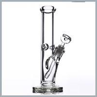 30CM 9mm Bongs Glas Bohrinsel Thick Gerade Bubbler klassisches Design Glas Wasser-Rohre Super Heavy mit Rauchzubehör