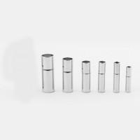 50pcs Größe 2mm / 2.5mm / 3mm / 4mm / 5mm / 6mm Bajonett Verschluss für Leder Halskette / Armband