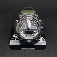 2018 Trending Outdoor Sports Watches Uomo che corre grande quadrante digitale orologio da polso cronografo cinturino in PU 50M impermeabile Watch Shock dropship
