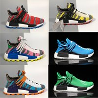 2018 Adidas Human Race NMD new pharrell williams raza humana nmd hombres mujer deportes Zapatillas de running negro blanco gris nmds primeknit PK corredor XR1 R1 R2 Sneakers