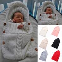 Hohe Qualität Heißer Verkauf Neugeborenen Winter Handgemachte Gestrickte Schlafsack Decke Wrap Schicht Baby Niedlichen Warmen Schlafsack Freies Verschiffen