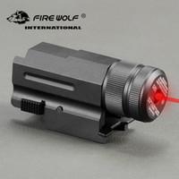 FEUER-WOLF Mini Compact Rot Grün-Laser-Anblick Neu für 20mm Schienen-Pistole Gewehr G17 20 23 21 Hunting
