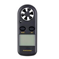 Freeshipping 휴대용 디지털 풍속계 핸드 헬드 전자 타코미터 풍속 풍량 측정기 Backlight가 장착 된 LCD anemometro
