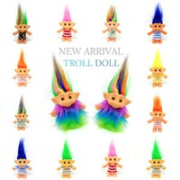 2019 New 10cm Trolls Doll Action Figures Doll Super Cute 14 ...
