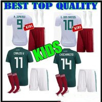 2018 World Cup soccer jerseys Mexico kids kit+ socks CHICHARI...