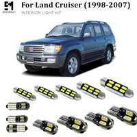 led Toyota Land Cruiser 1998-2007 için Shinman 15X Hata Ücretsiz Araç LED Parlak Araç İç Harita Kubbe Kapı Işıklar Seti Paketi