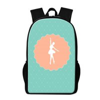 Cute School Backpack Pattern per Chidlren Green Ballet Grils Bagpack Day Pack per ragazze Trendy Bookbag Pattern per Primary Student Mochilas